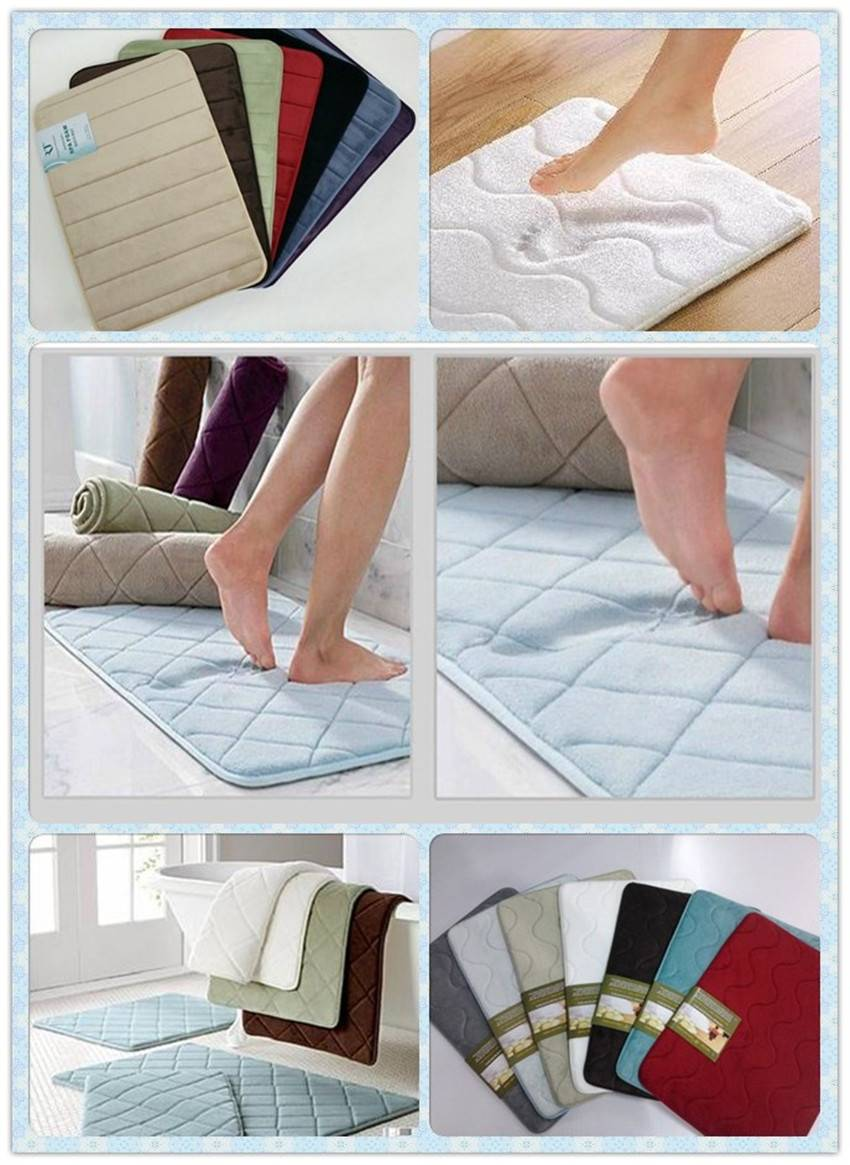 Hot Sale in Wal-mart Classic Mircoday Memory Foam Bath Mat Multiple color Sorted Size