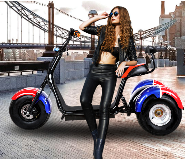three motor motorcycle scooter
