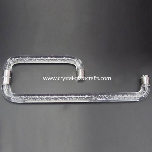 Stainless steel door pull handle with acrylic rod for glass door