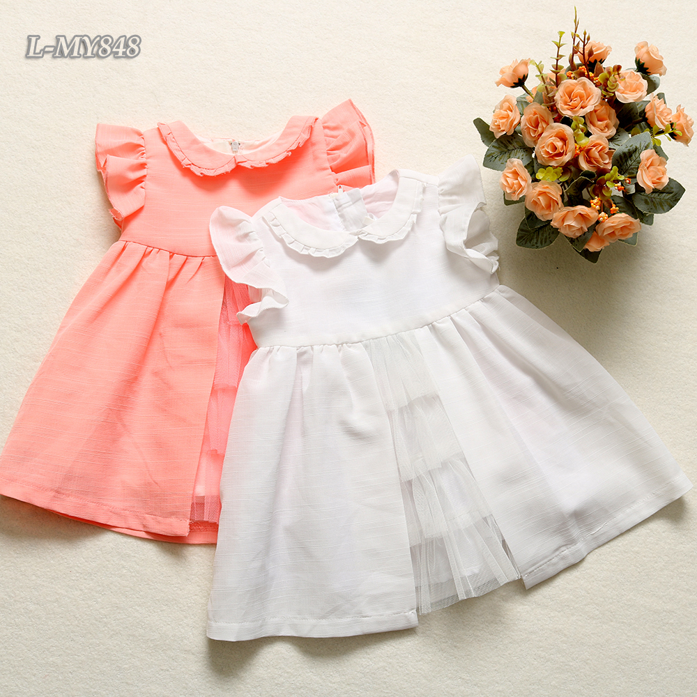 Top 100 most beautiful baby girls online plain dress western wear birthday dress for baby girl