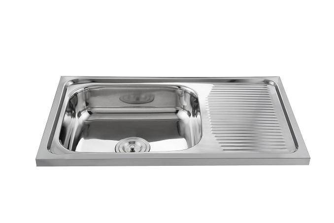 Factory supply topmount 201/304 stainless steel kitchen sink WY-7544