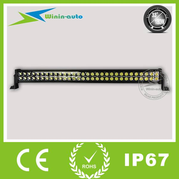 33 180W Double Row Cree LED Work Light Bar for off-road ATV Fire Engine, Police cars, rescue vehicl
