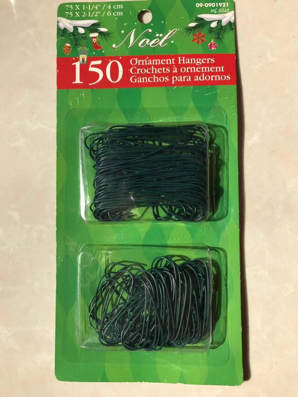 Christmas Green Metal Fancy Ornament Hooks