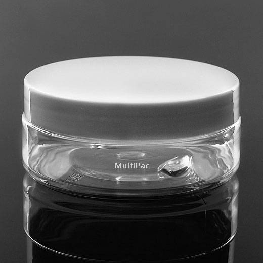 125ml PET jar, plastic cream jar for cosmetic packaging