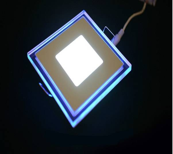 5W 105mm x 105mm Double Color LED Square LED Ceiling Panel Lamp