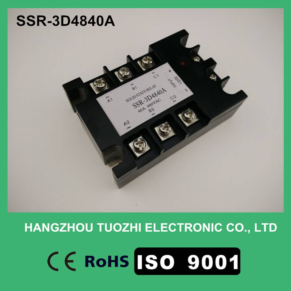 Three phase solid state relay 40a dc ac 3-32vdc input SSR-3D4840A