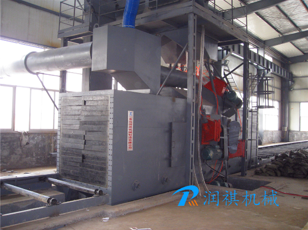 H-beam type shot blasting machine