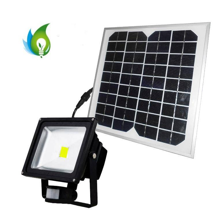 30W PIR Sensor LED Flood Light with Solar Power
