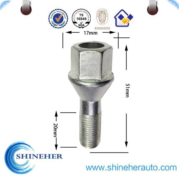 TS16949-appvoed wheel hex bolt for Russian market