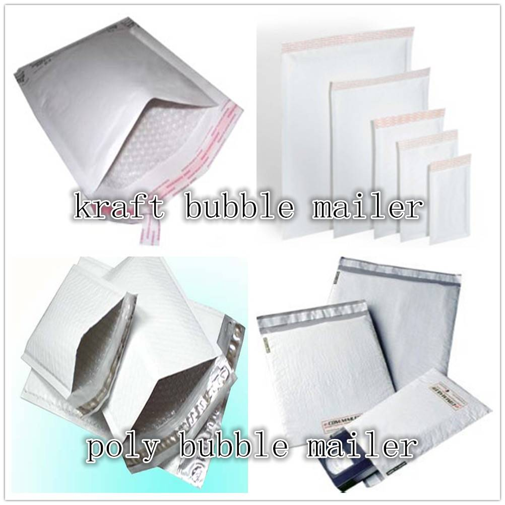 White padded mailers