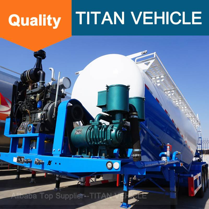 Titan Vehicle Aluminum Cement Trailer Bulk Cement Silo Semi Trailer for sale