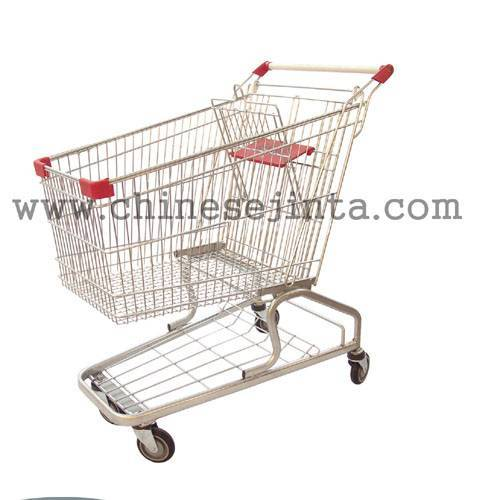 All kinds of shopping trolley