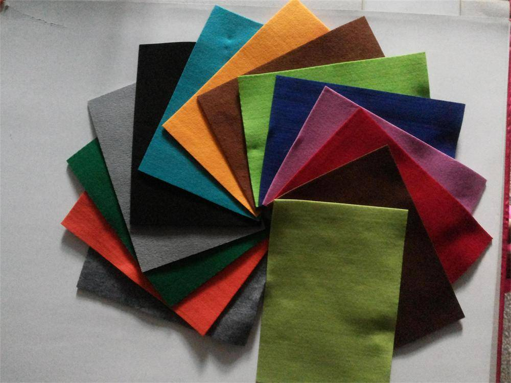 high quality non-woven felt in different colors