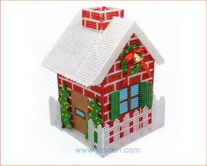Christmas House 3D Cross Stitch