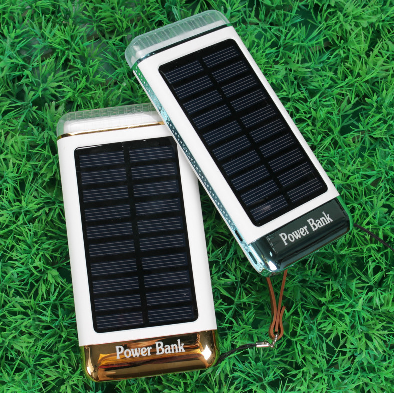20000mah emergency rainbow led light solar charger for mobile phone