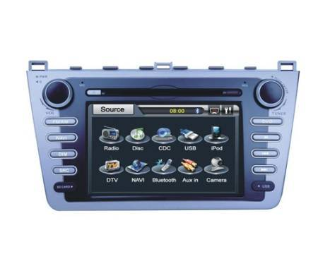 Mazda 6 DVD Player with GPS System Steering Wheel Control