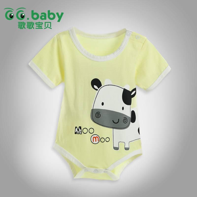 Newborn Summer Baby Body Suit For Baby girls & Boys Cotton Animal Bodysuit