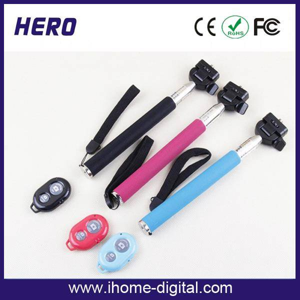Wholesale Smartphone Bluetooth Wireless Mobile Phone Monopod,Wireless monopod with bluetooth shutter