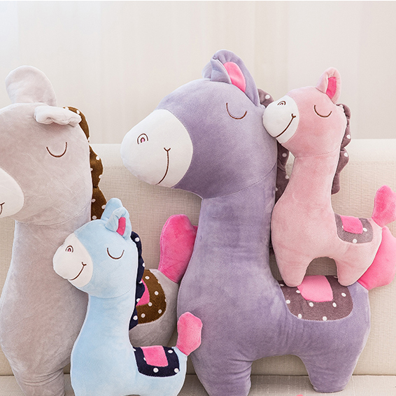 Plush horse animal toys pony doll horse pillow DS-HS001