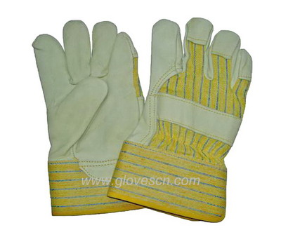 Offer cow grain leather gloves