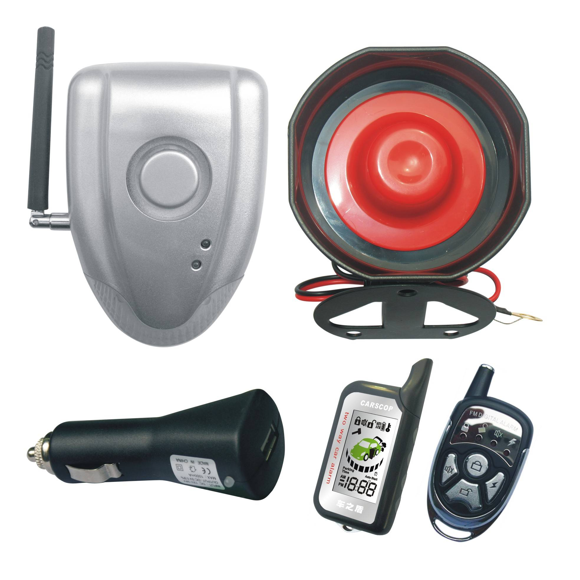 No Instalation two-way car alarm