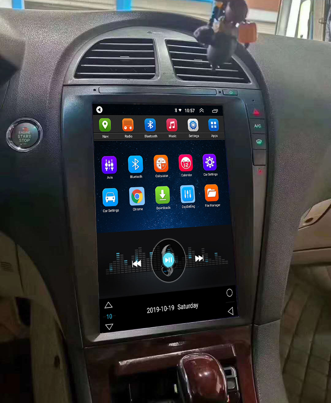 Tesla Style 12.8 Inch Android Car Multimedia Navigation For Lexus ES