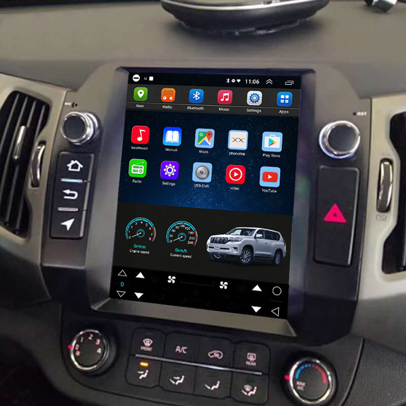 Tesla Style 10.4 Inch Android Car Multimedia Navigation For Kia Sportage 2010-2016