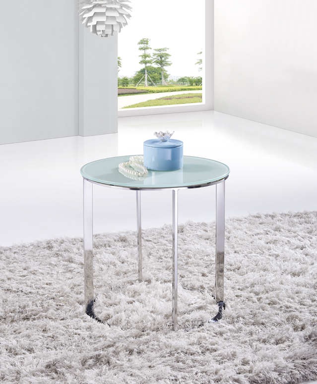SHIMING FURNITURE MS-3368 tempered glass with stainless steel small side table