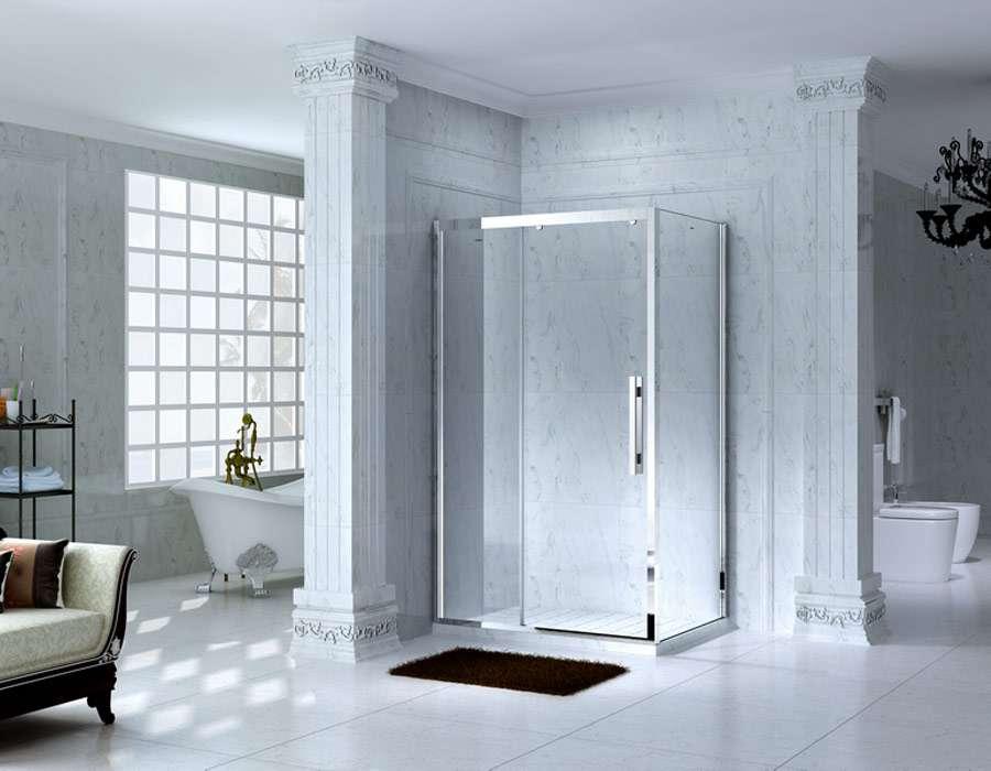 Framed Rectangle Shower Enclosure with Sliding Door, AB 1131