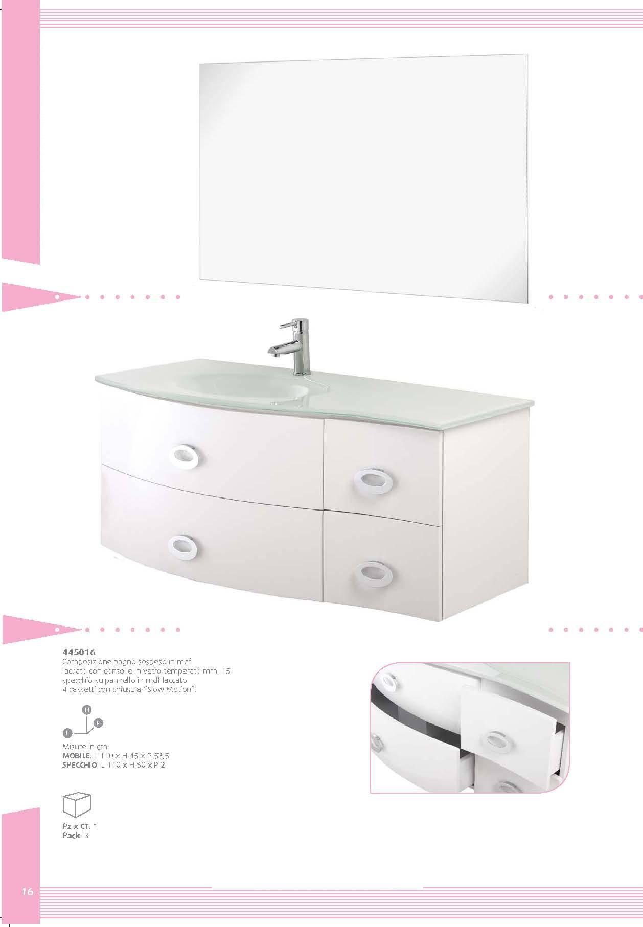 mdf wall-mounted bathroom cabinet