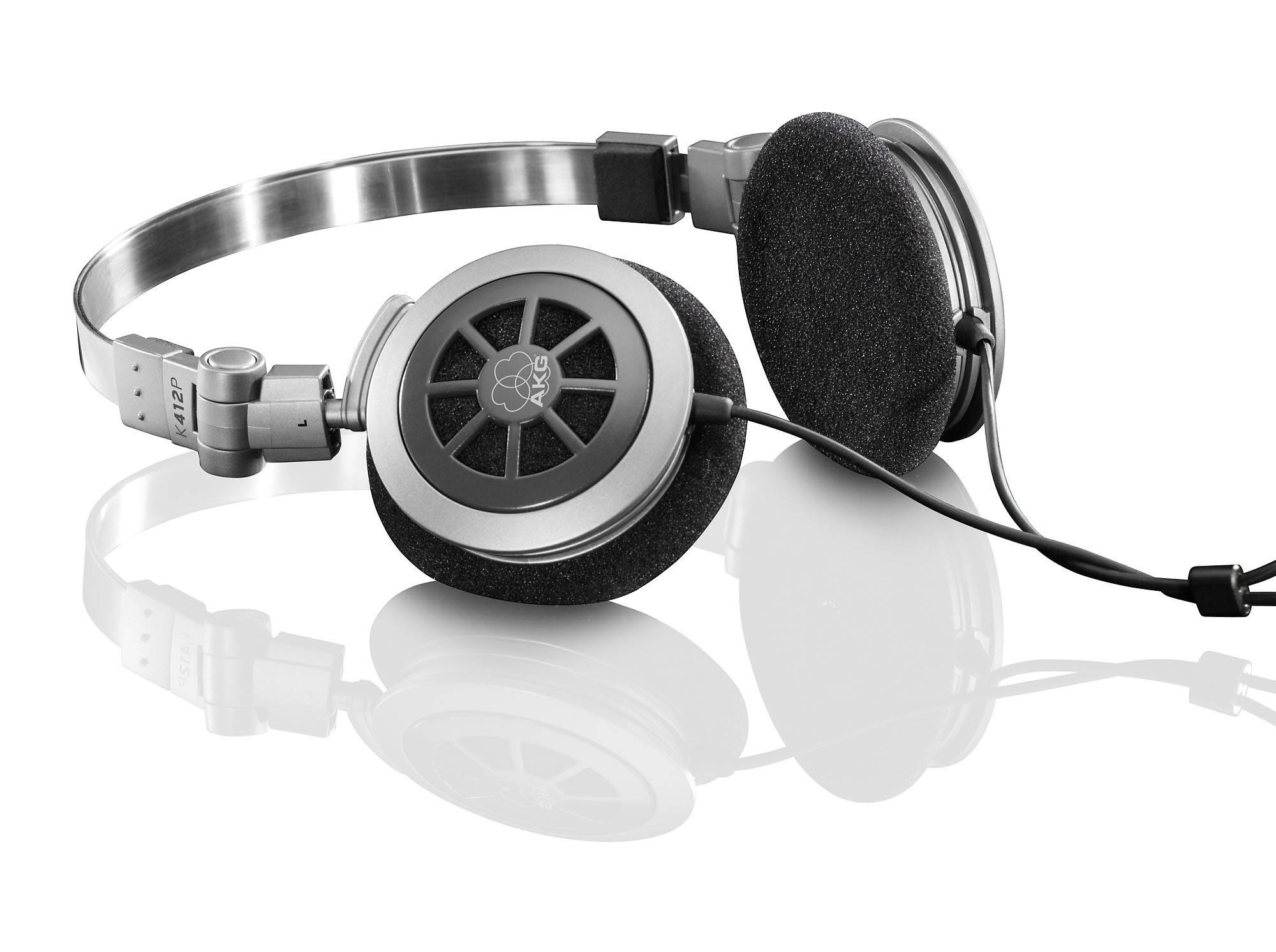 Folding stereo headphone full size earphone AKG K412P