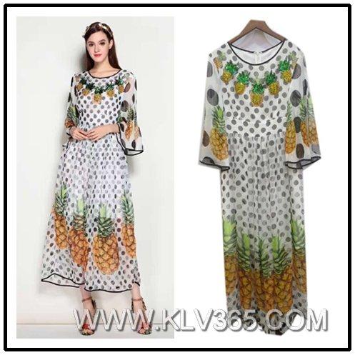 New Fashion Designer Women Long Floral Maxi Dress Wholesale