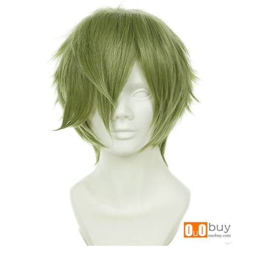 Selling Touken Ranbu Online Uguisumaru Grass Green Short Turned-Alice Cosplay Wig