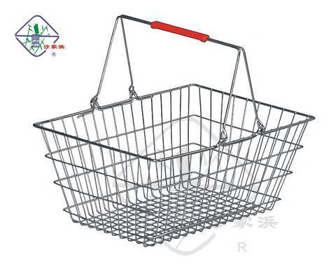 chrome coating shopping basket/wire basket/metal basket/shopping basket