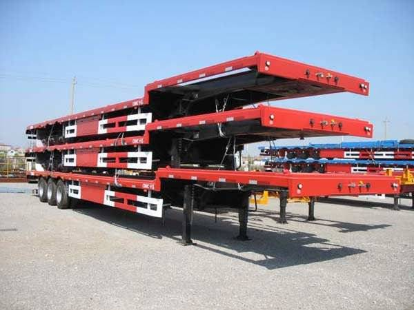 Sell axle low bed semi trailer