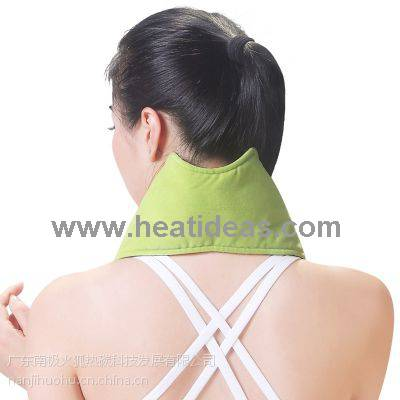 Battery powered far infrared neck heating pad