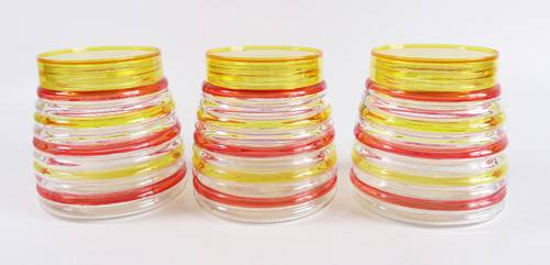Glass canister set of 3