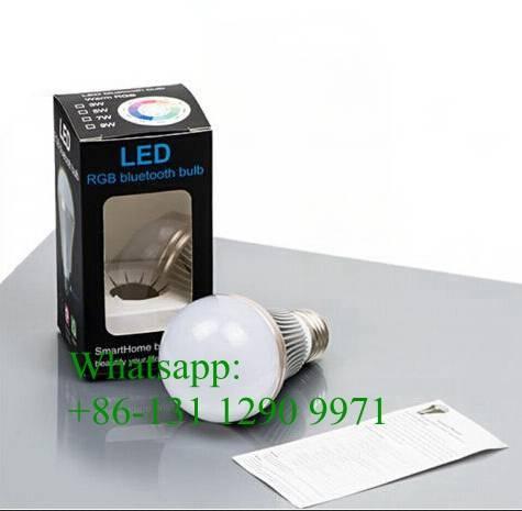 Smartphone controlled RGB Bluetooth Bulb