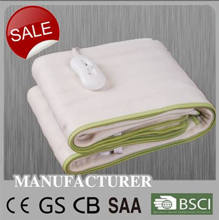 Home use electric heating blanket for bed