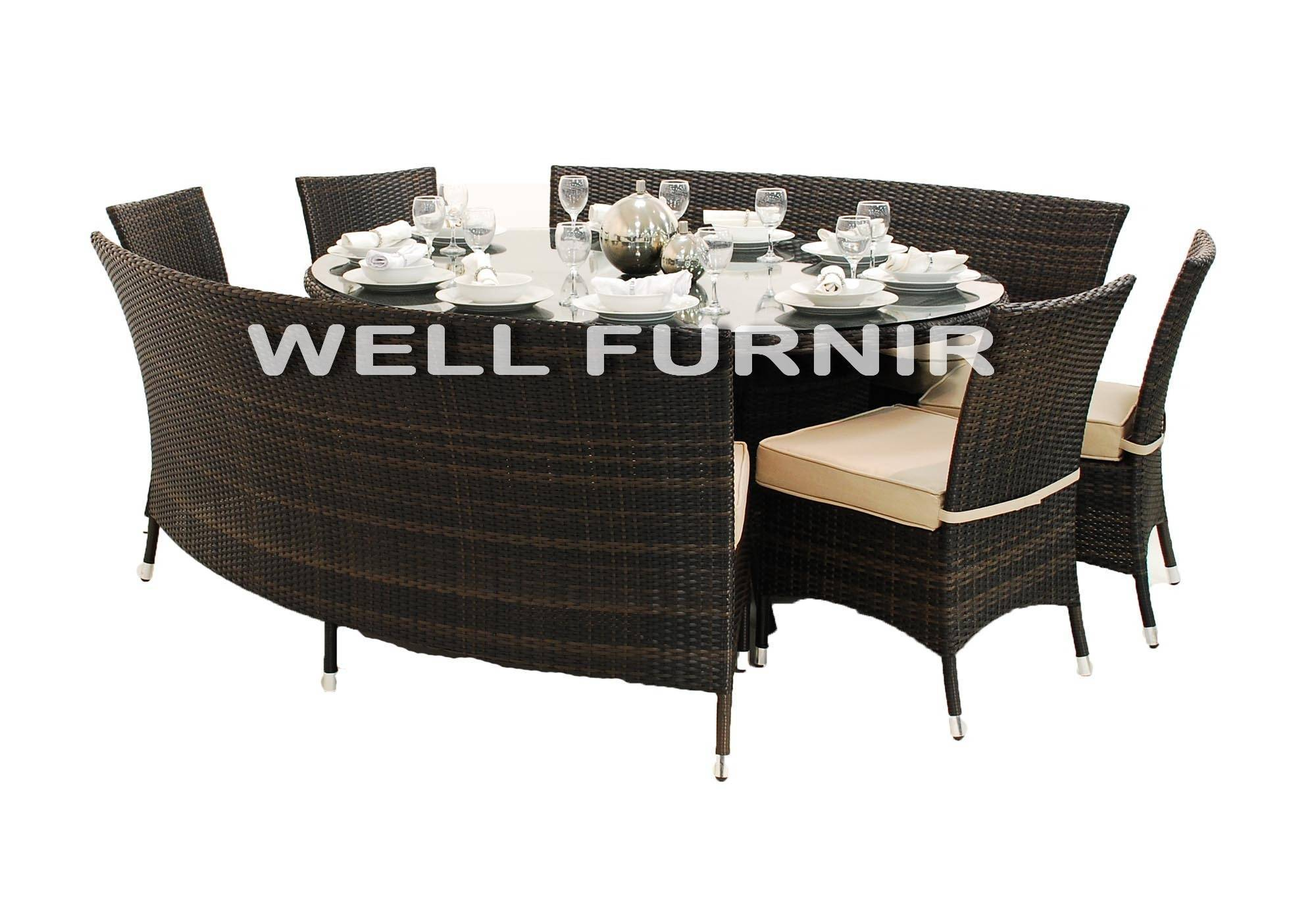 Supply 10-Person Rattan Wicker Dinning Set