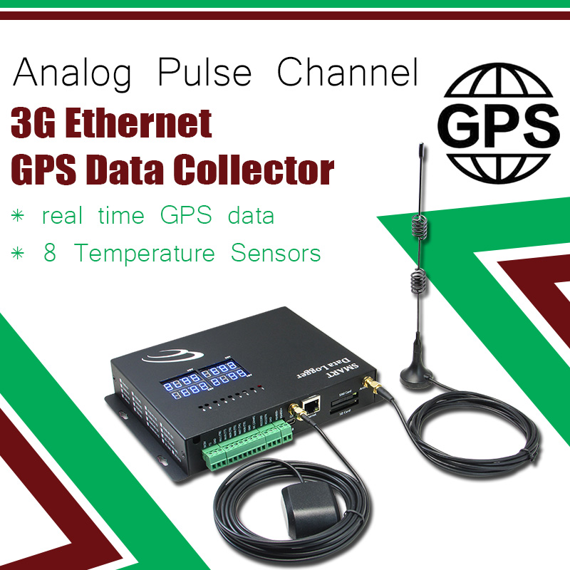 Analog Pulse Channel 3G Ethernet GPS Data Collector