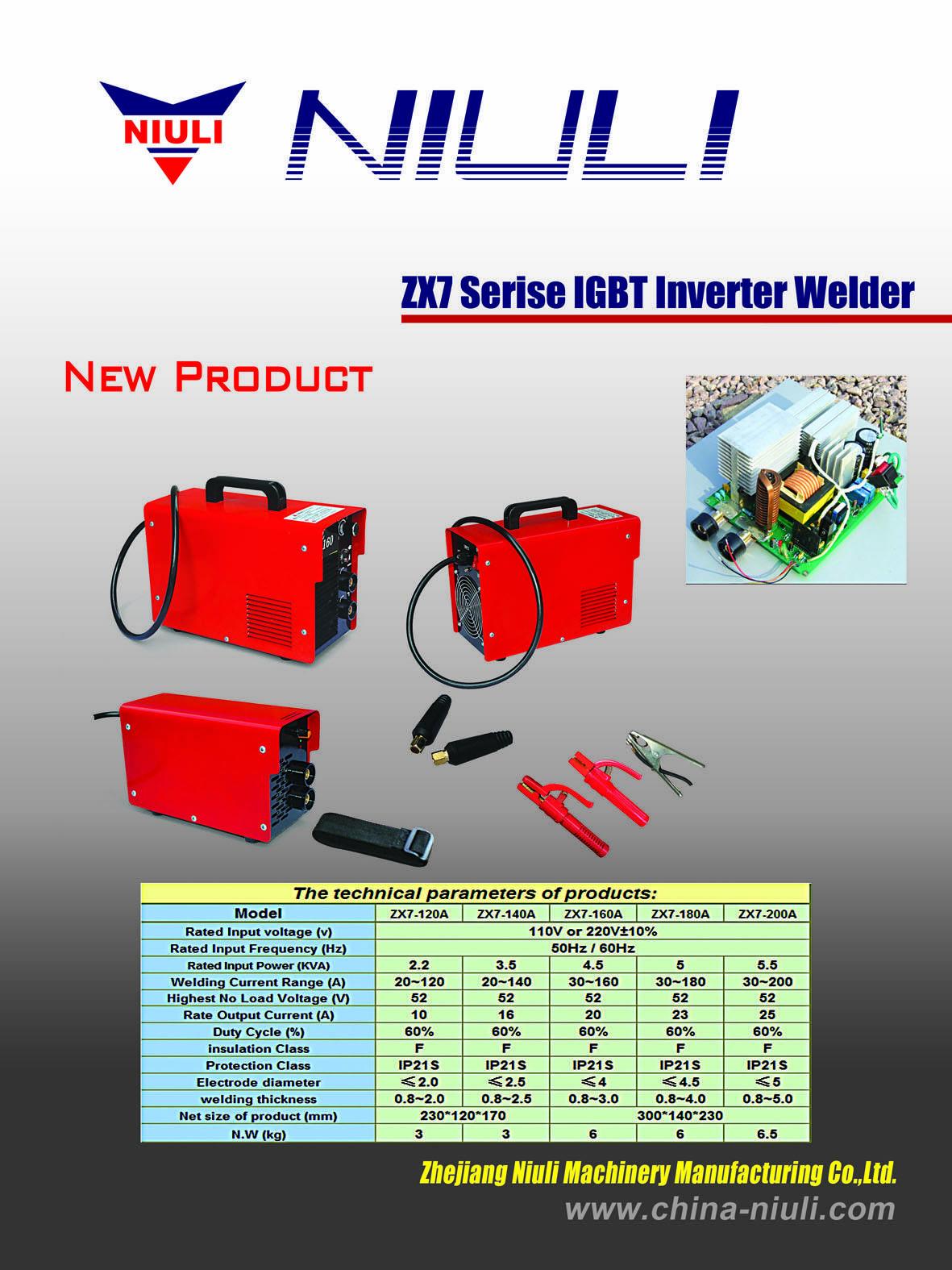 ZX7 series IGBT inverter welding machine