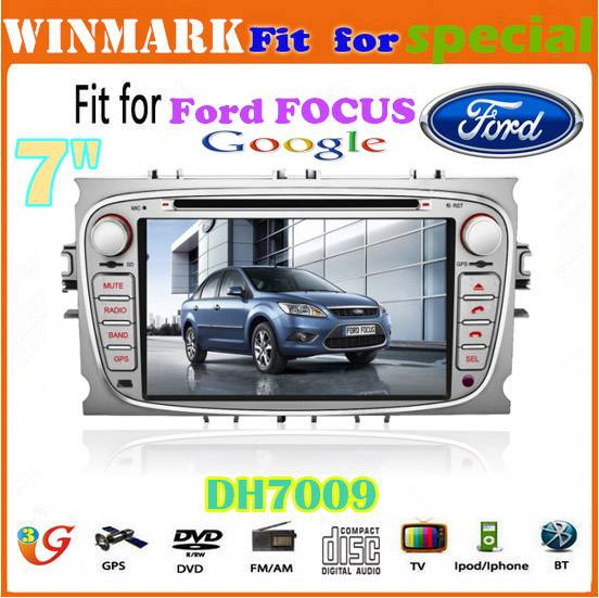 7 Win CE 6.0 car dvd player for ford focus Bluetooth GPS 3g Stereo FM Steering wheel control touch