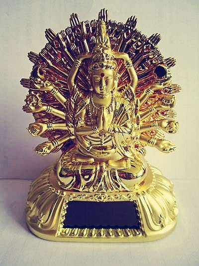 Self-Spin Avalokitesvara-GuanYin Powered By Solar Chanting OM MaNi Padme Hum