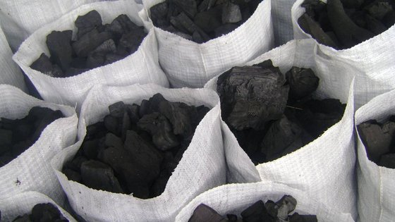 Hardwood Charcoal and various other types of Charcoal.