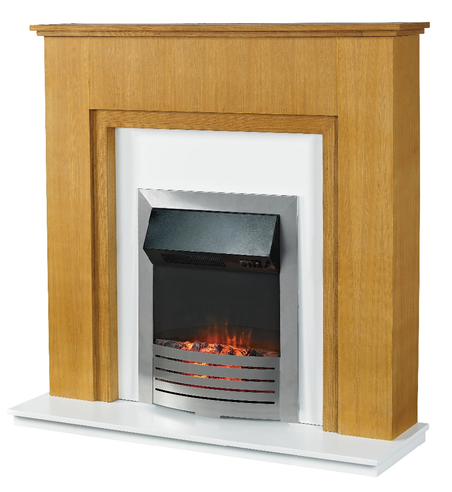 LED Free Standing Wooden Electric Fireplace