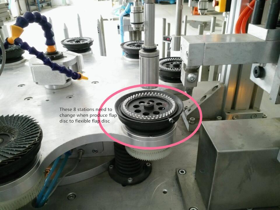China factoryAbrasive flexible flap disc making machine