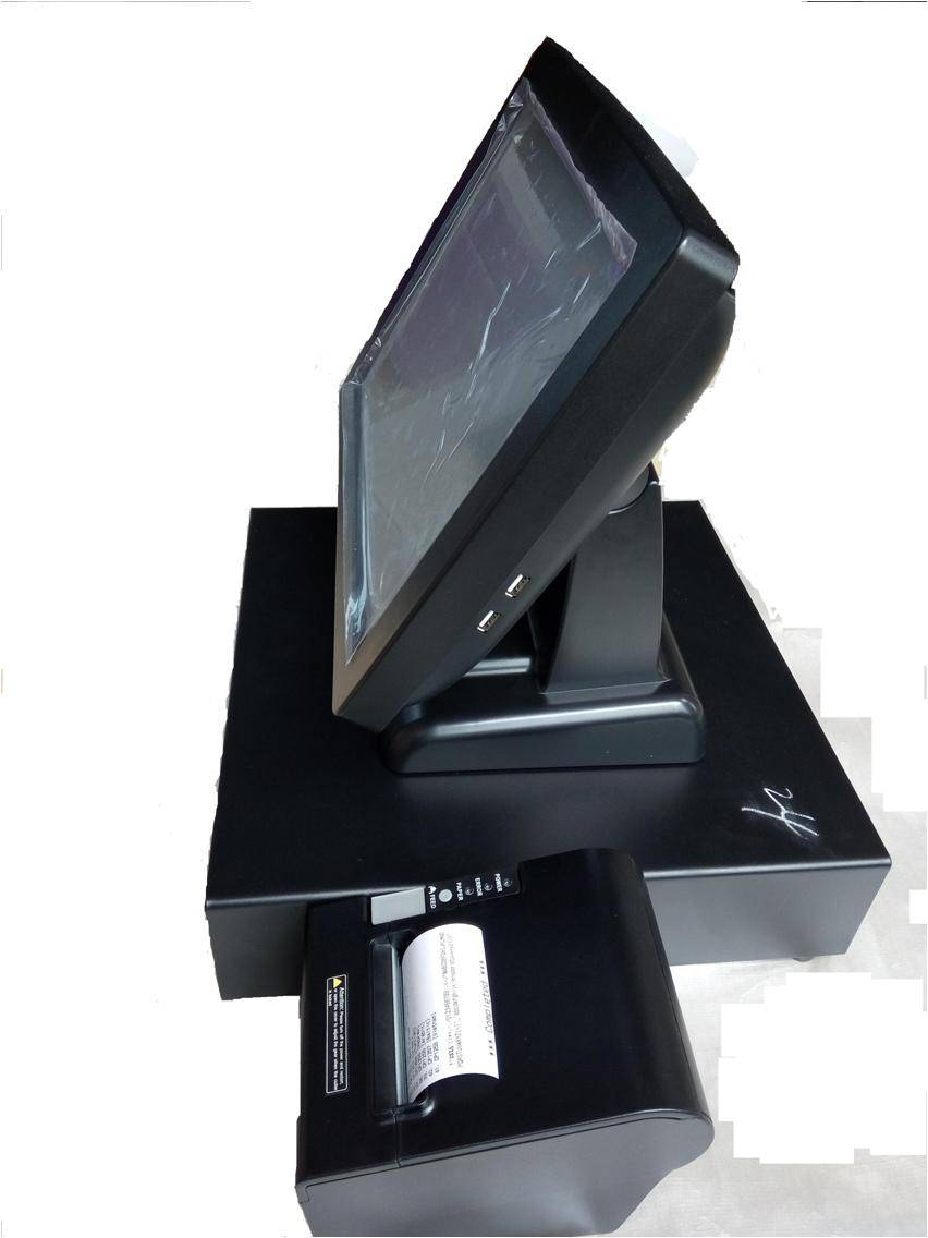 15 inch all in one touch screen POS terminal/all in one POS system
