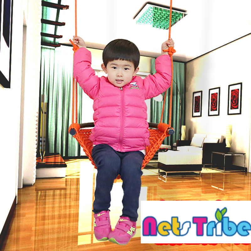High quality polyester fiber handwoven swing indoor playground