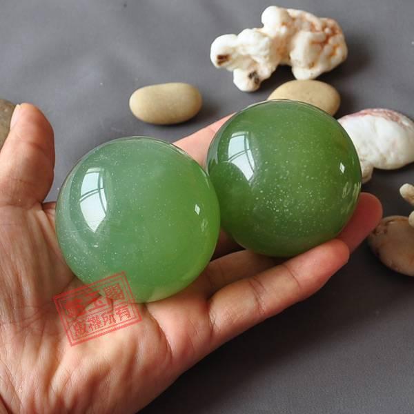 Natural xiuyan jade massage ball